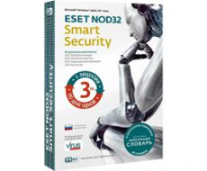 Антивирус Eset NOD32 Smart Security Лицензия на 1 год для 3 ПК + Vocabulary (1 год - 1 ПК)